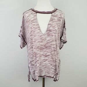 Free People Burn-Out Keyhole Top